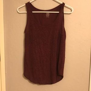 Burgundy Relaxed Tank Top